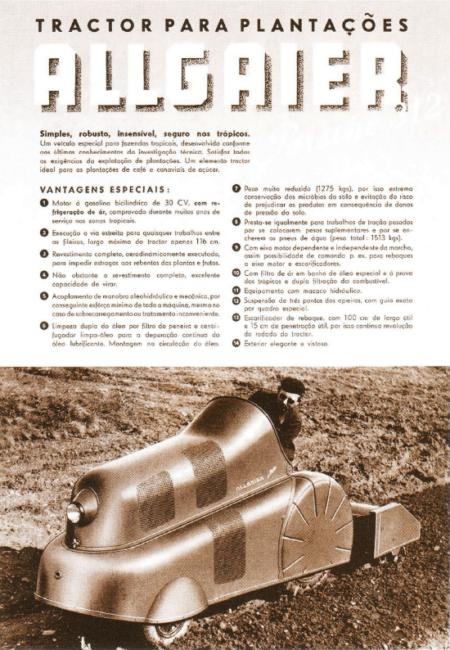 Porsche Traktor P 312 Werbeanzeige