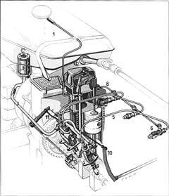 Porsche Einspritzanlage beim P 133