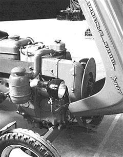 Porsche Junior 109 Motor und Vorderachse