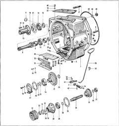 Porsche Motor Zwischengehäuse am Super L 308