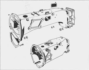 Porsche P 111 Langes und kurzes Zwischengehäuse