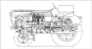 Porsche Traktor A 133 Schnittzeichnung