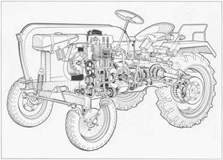 Porsche-Traktor AP 16 Schnittbild