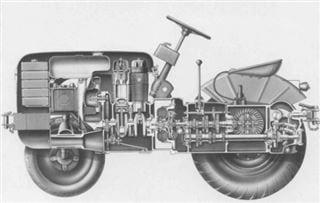 Porsche-Traktor AP 17 Schnittzeichnung