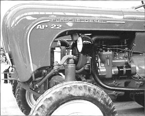 Porsche Traktor AP 22 Vorderachse Details