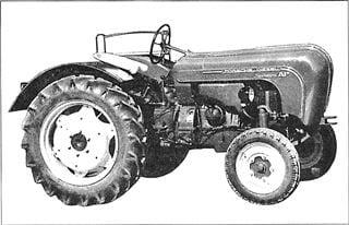 Porsche Traktor Standard 218 Seitenansicht