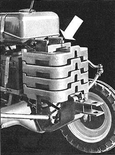 Porsche Traktor Standard AP Belastungsgewichte Vorderachse