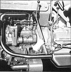 Porsche Traktor Standard AP Mähantrieb am Motor