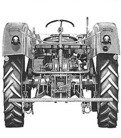 Porsche Traktor Standard Star 219 Heckansicht