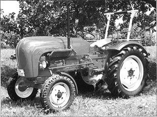 Porsche Traktor Standard T 217 Seitenansicht