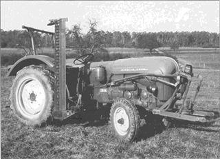 Porsche Traktor Super 339 mit Seitenmähwerk