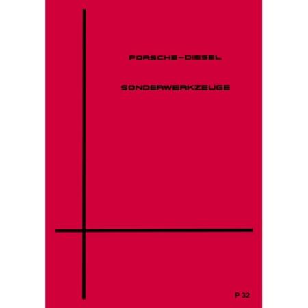 Porsche Diesel Schlepper Sonderwerkzeuge Handbuch